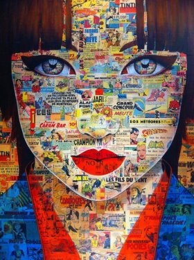 Enigmatic Eyes - by Pauline Gagnon art beauty collage creative