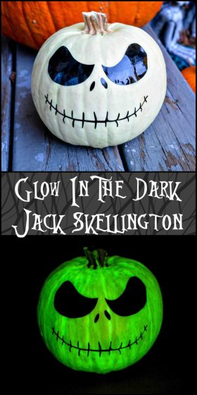 Glow in the dark Jack Skellington! Halloween diy