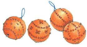 Freshen up your closet or home with DIY orange pomander balls!