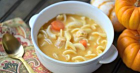 Such a yummy fall from msinfoblog Chicken Noodle Pumpkin Soup ://