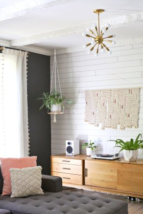 Hanging Plant Shelf DIYvia abeautifulmess home homedecor fall