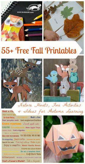 55 FREE Fantastic Fall printable activities & crafts! diy crafts freebie