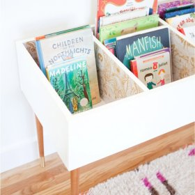 Love this wonderful DIY kids book bin diy book organized