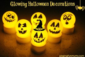 Love these DIY halloween decorations! Crafts LightUp Sensory Visual Spooky Halloween