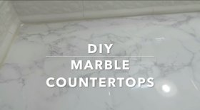 DIY marble counterops AmberScholl makeup lovers diyprojects diyMotivation