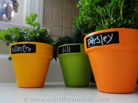 Perfect for your indoor herbs! crafts garden herbs