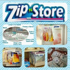 Use ZipNStore for more than kitchen storage! Organize crafts or scrapbooking supplies