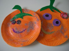 Pumpkin Ha-Ha Faces crafts preschool