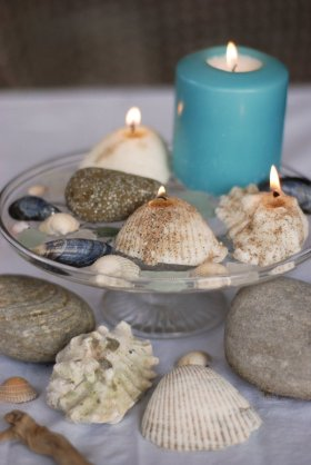 Time to get crafty! Make a cast seashell candle. Here's how: crafts