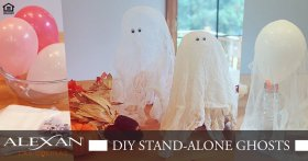 Take a look at these ghost for halloween! AlexanLasColinas Decorations DIY Ideas Crafts