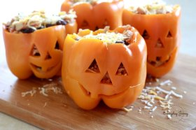 Stuffed Peppers Halloween Style!
