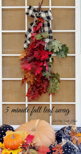 Get your Swag on! Make a fall swag in 5 minutes. simple fall crafts