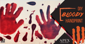 Try these handprints for Halloween! ApexLagunaNiguel Halloween DIY Ideas Crafts
