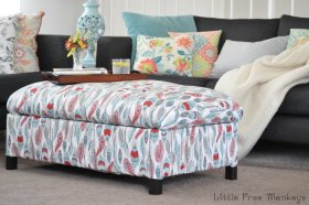 DIY Upholstered Storage Ottoman - step by step tutorial - build frame and upholster