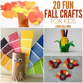 20 Fall Crafts for Kids fall crafts kids