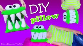 My new video! DIY Monster Pillow (How To Make A Head-Eating Pillow)