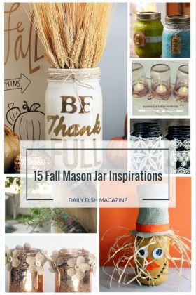 Fall Mason Jar Crafts - Get Inspired by Fun Fall Craft Projects! via foodfriendsfri crafts