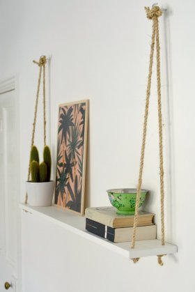 DIY Easy Rope Shelf - Crafts DiyIdeas RopeCrafts