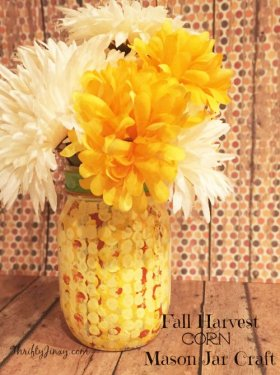 DIY Fall Harvest Corn Mason Jar Craft DIY crafts