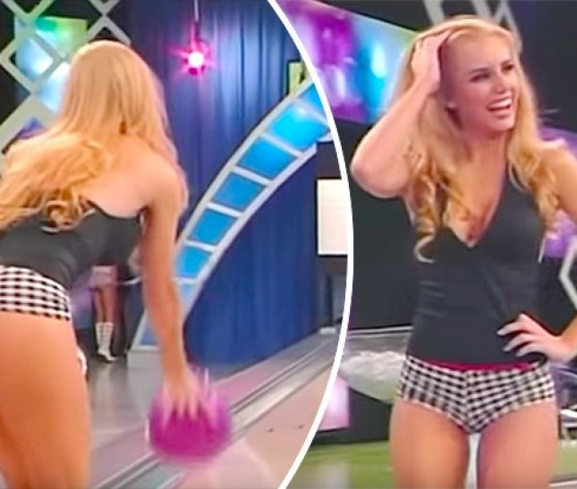 Gorgeous Gameshow Girls Wow In Sexy Hot Pants Before Going Bowling In Bizarre Footage Https