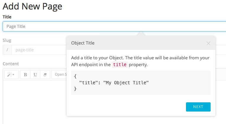 Creating extendable content objects served via API:  #ReactJS