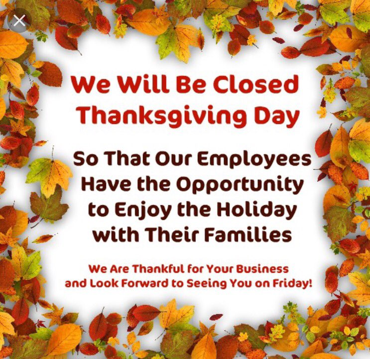 closed for thanksgiving sign template