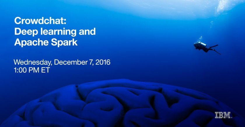 Join @JamesKobielus Wednesday to chat about #SparkDeepLearning: