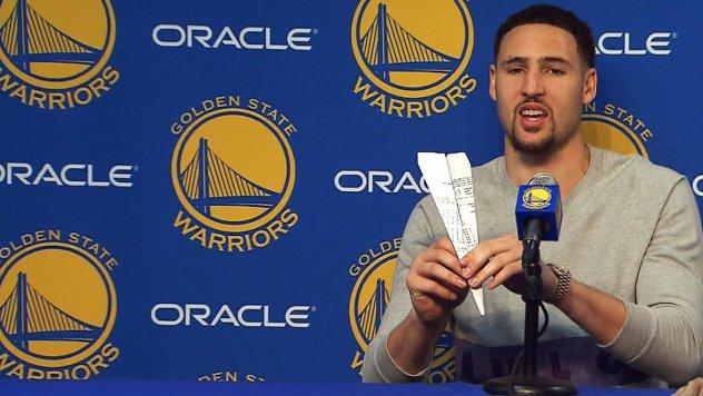 Image result for Klay thompson paper plane