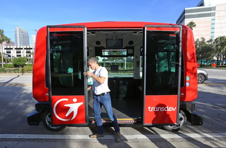 Tampa gets first-hand look of driverless shuttles planned for downtown