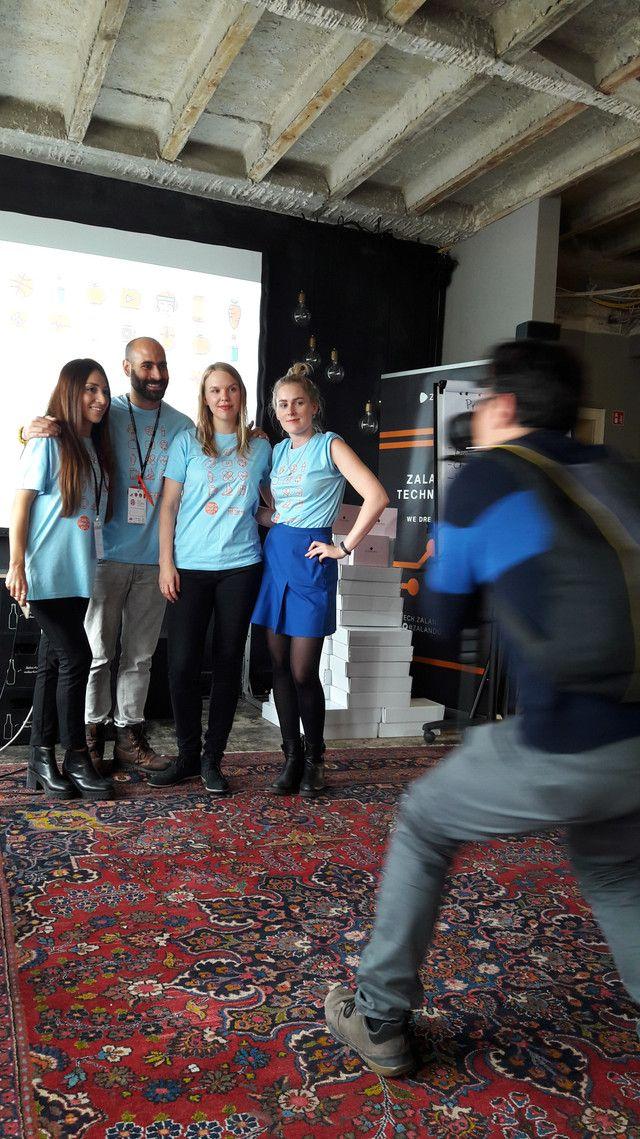 #Hack Like a #Girl with @ZalandoTech  #Hackathon #ReactJS #API #APIfirst #DiversityInTech