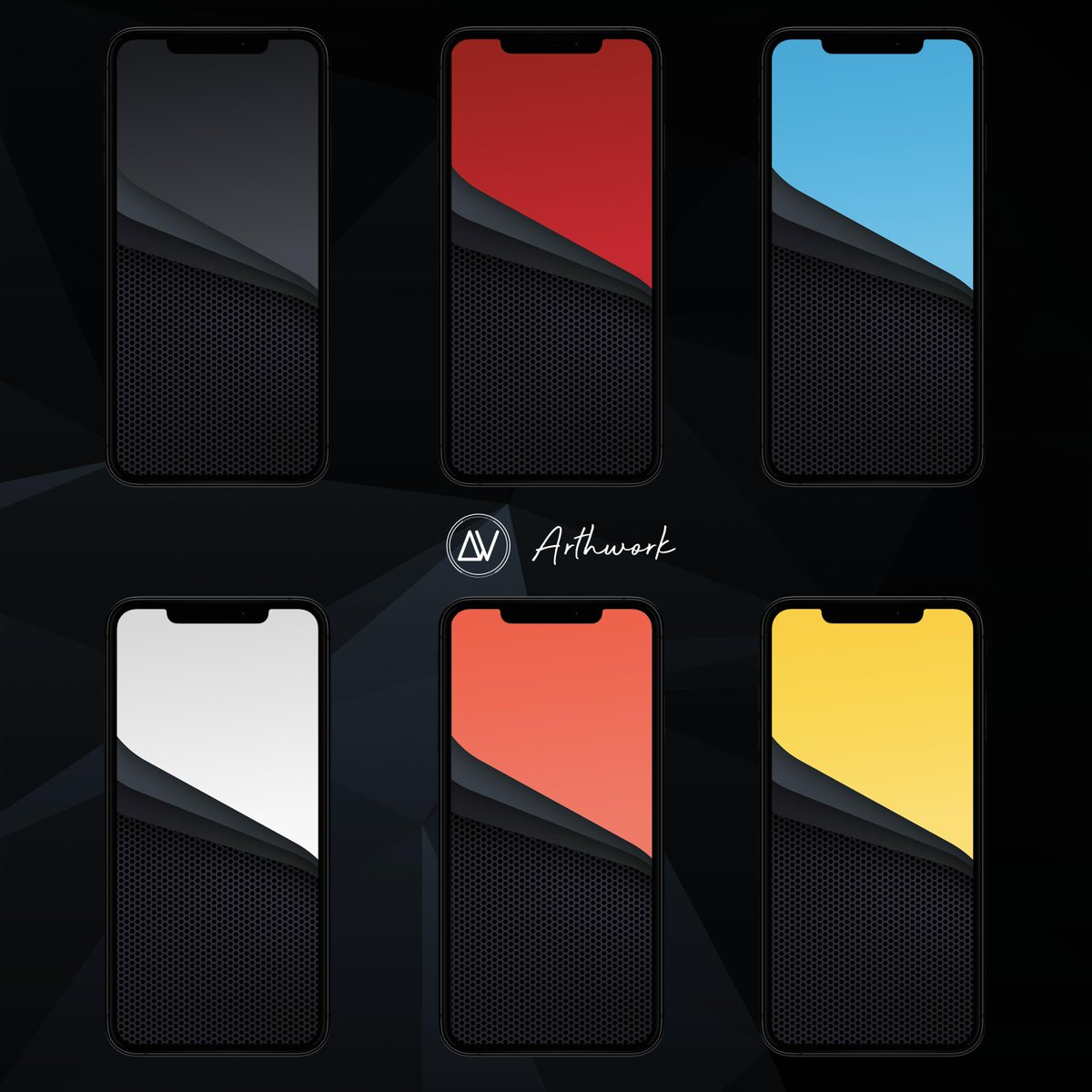 Arthwork On Twitter Iphonexr Colors Abstract Shapes Matrix Wallpaper Red Coral Blue Yellow Black White Available For Iphone Xs Xsmax X Xr Prod By Arthur1992as Download Same Link