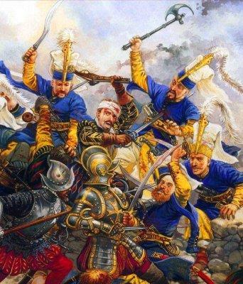 "Wedaneus 🇬🇷 on Twitter: ""Battle between Ottoman Janissaries and ..."