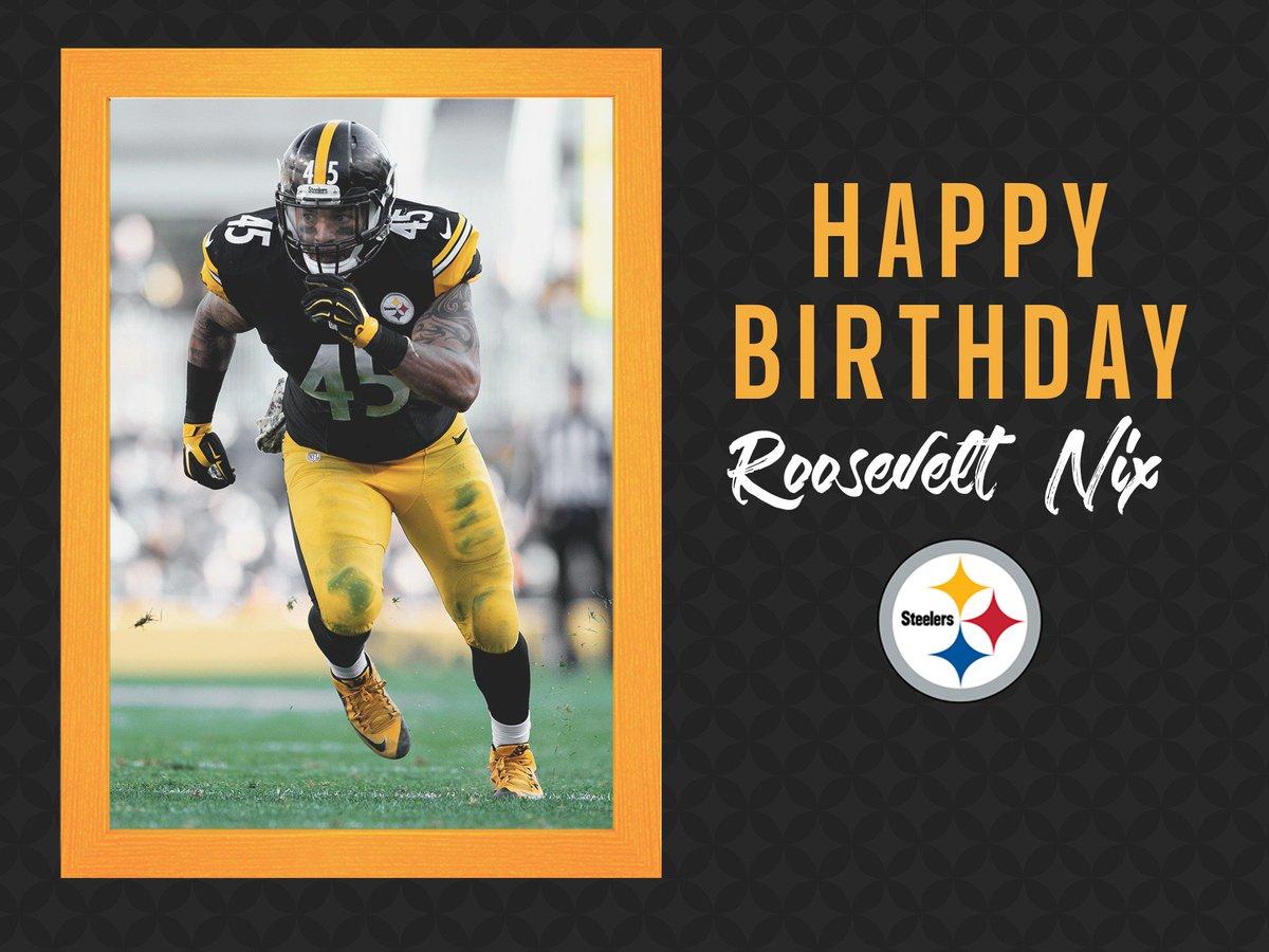 Pittsburgh Steelers On Twitter Happybirthday Dat Dude Nix