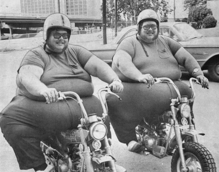 """Super 70s Sports on Twitter: """"Anybody else remember these twin brothers who  became minor celebrities just for being great fat bastards?… """""""
