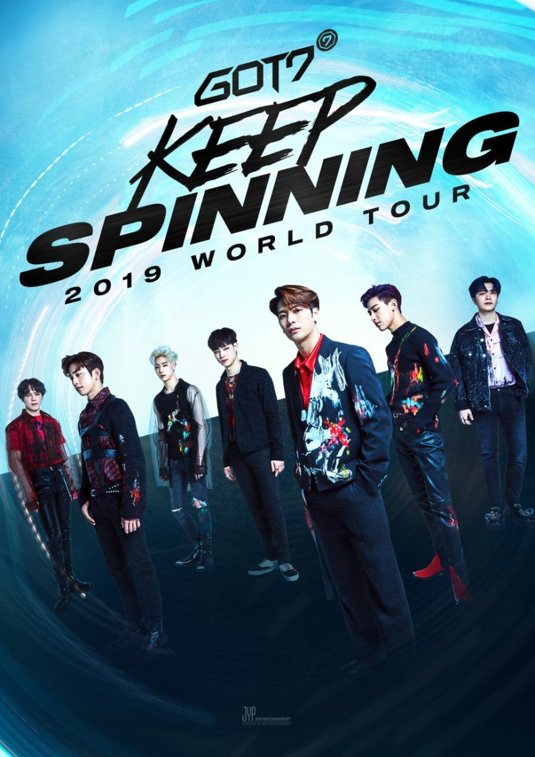 """GOT7 2019 World Tour """"Keep Spinning"""" Poster"""