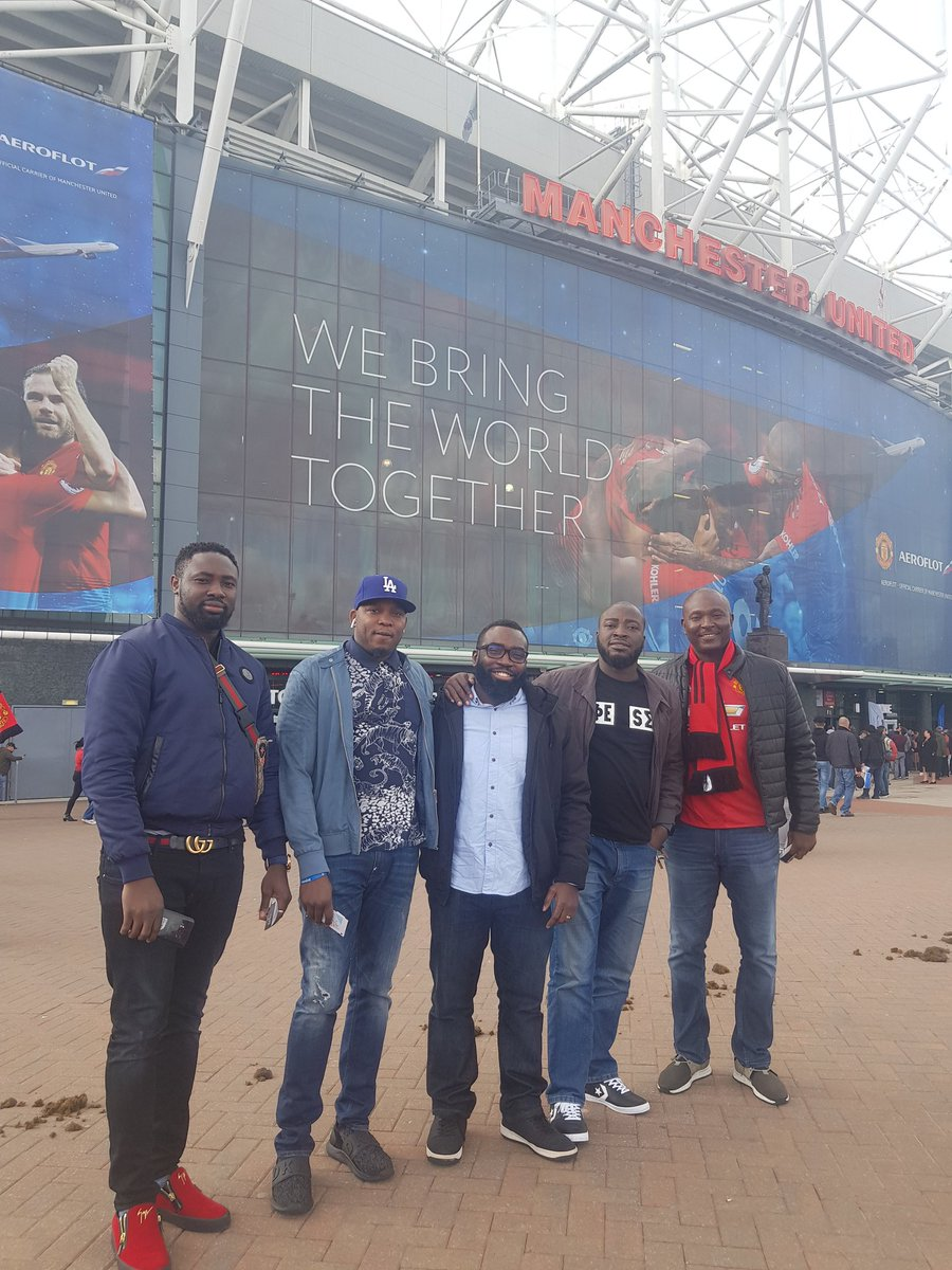 D5P1nFwWkAElNH8 - [Pictures]: Nairabet Owner, Akin Alabi, Spotted At Old Trafford As Manchester United Welcome Chelsea