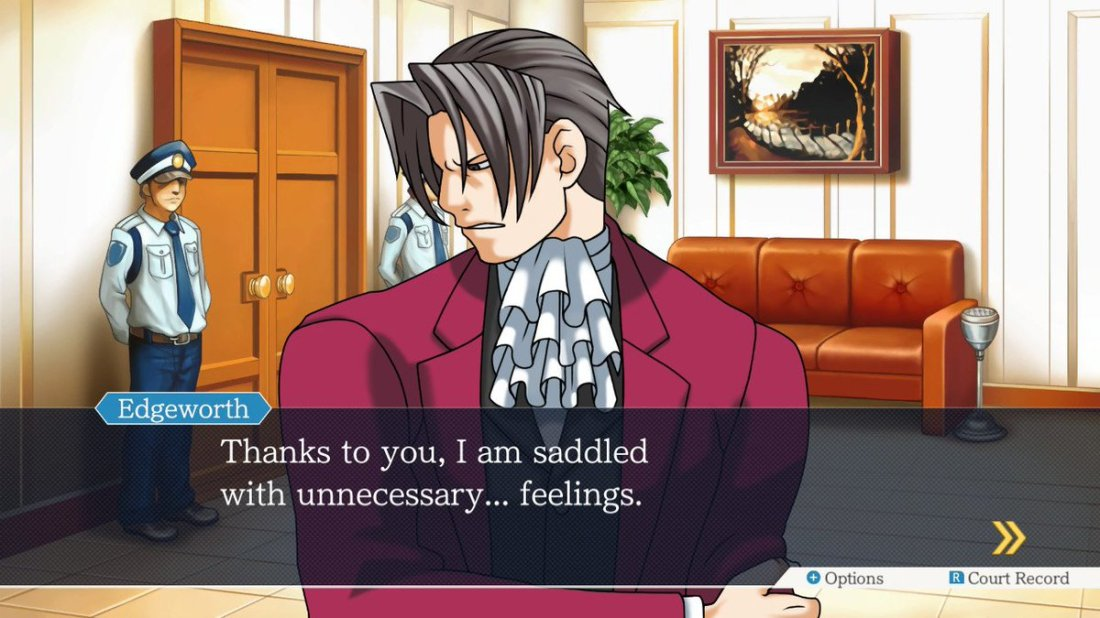 """Ace Attorney on Twitter: """"Don't look so down. Feel how it feels to feel,  Edgeworth!… """""""