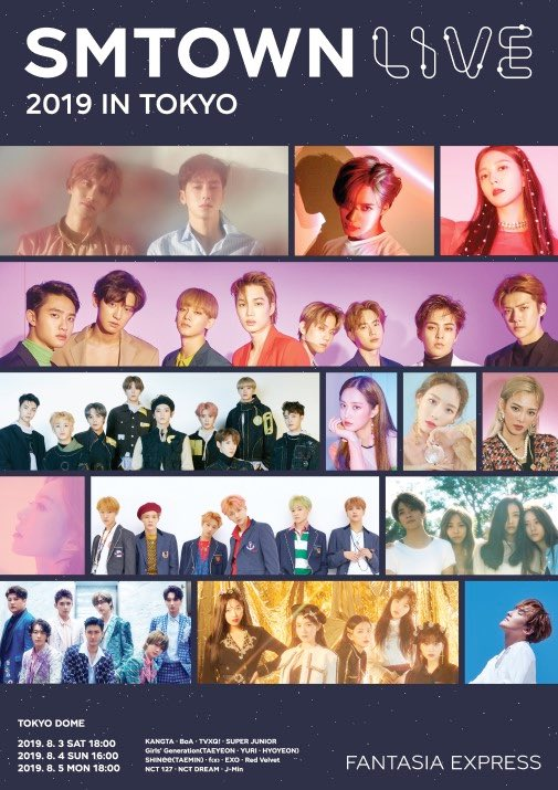 Image result for SM TOWN Live 2019 in Tokyo site:twitter.com