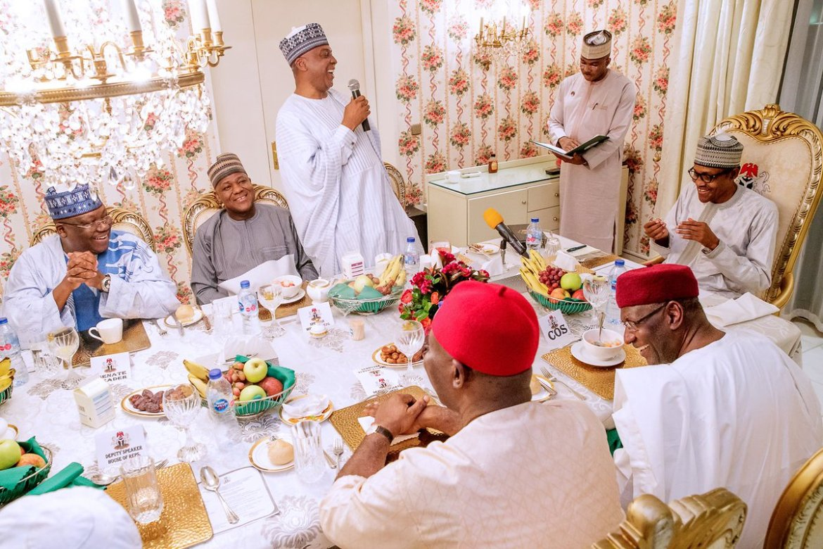 D6joEN4WsAALZeQ - Breaking: Buhari And Saraki Meet For The First Time Since 2019 General Elections (Photos)