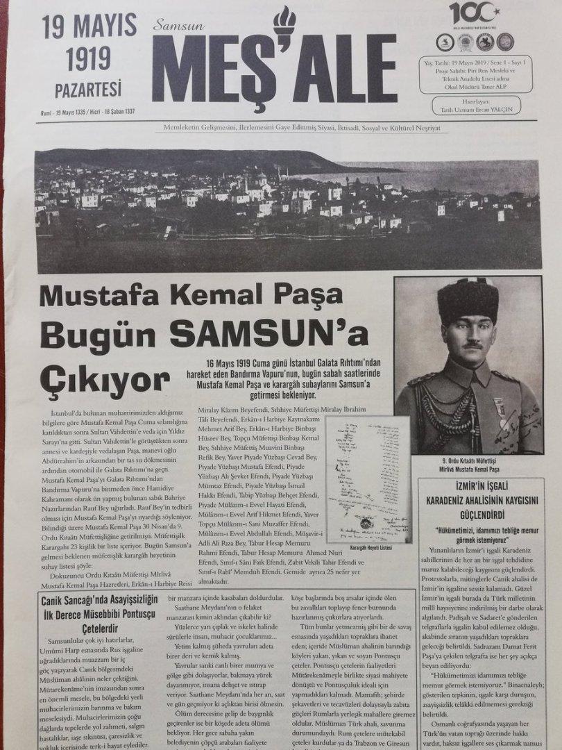 """SamsunMaarifHareketi🇹🇷 on Twitter: """"#Samsun2019 19 Mayıs 1919 da ..."""