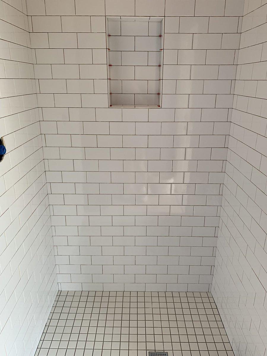 3x6 white subway tile niche