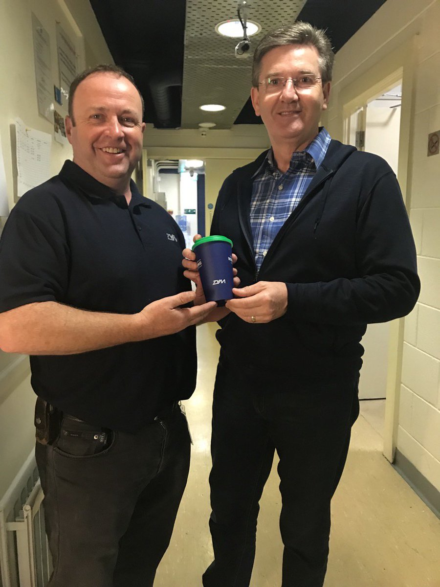test Twitter Media - @DanielODonnellOfficial approves of our TVM travel mug, pictured here with our very own Green Team member @johnnyodwyer1! #opryledaniel #plasticfree #travel #reuse #sustainability #tvm #irishmusic https://t.co/r2ET0IoxSC