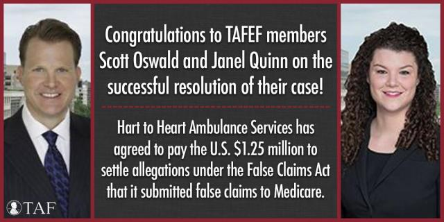 Image for the Tweet beginning: Congrats to TAFEF members Scott