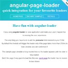 #Angular Page Loader Directive  #javascript