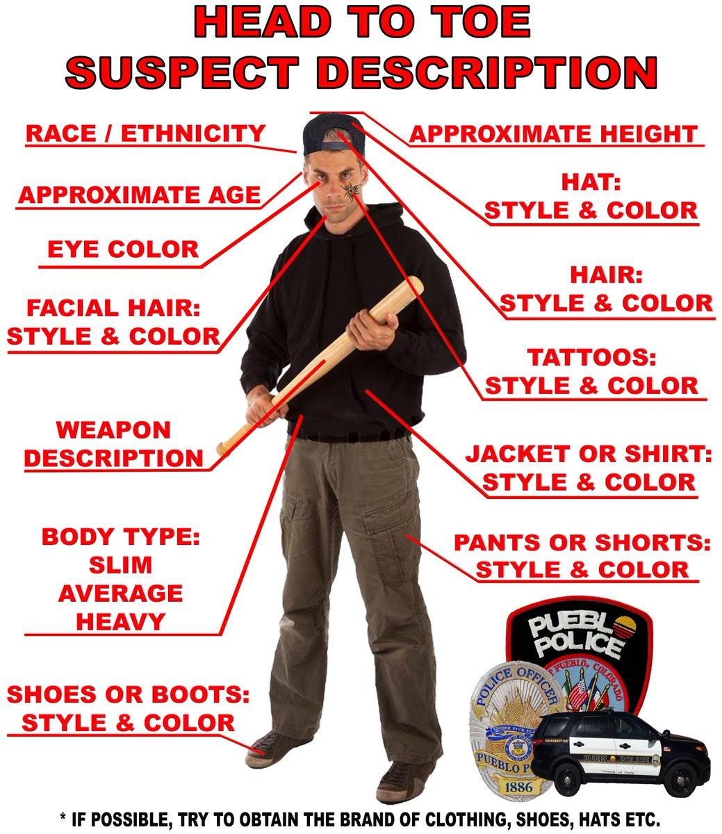 Pueblo Police Dept On Twitter Describing Suspects Or