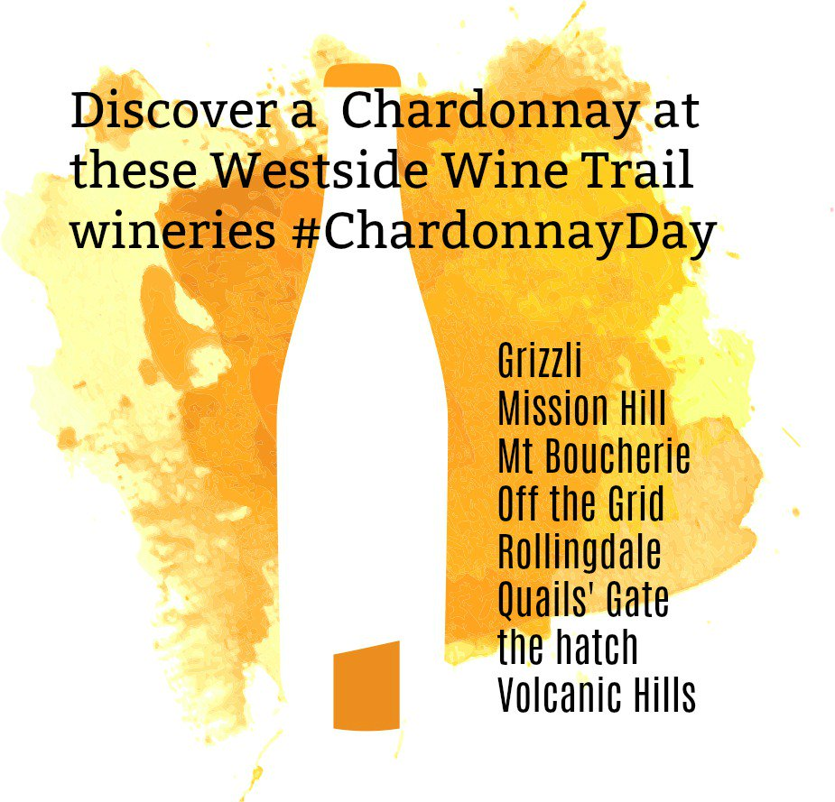 test Twitter Media - RT @WestWineTrail: Discover a Chardonnay from these Westside Wine Trail wineries. #BCWine  #ChardonnayDay https://t.co/TZ5yHiaTLB