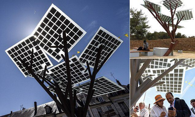 The eTree takes root: Tree with #solar panels unveiled in France  #smartcities #IoT