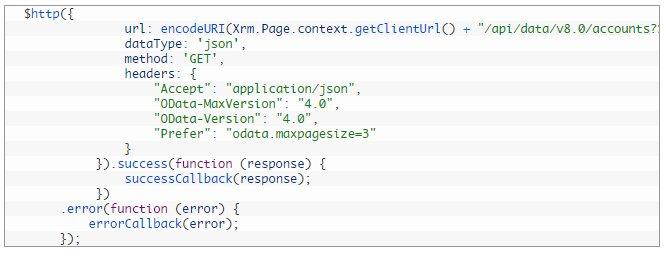 Execute Web API request using Angular JS in Dynamics CRM  #MSDyn365 #webapi