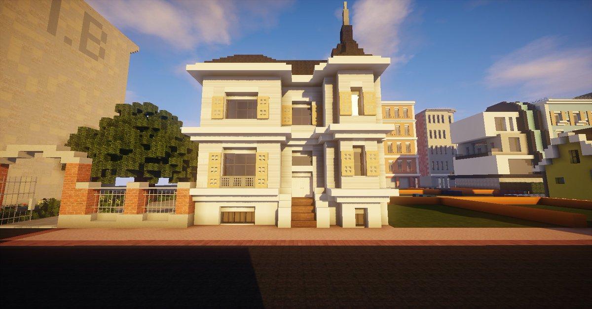 Wavv3s On Twitter Minecraft Jolie Petite Maison De Ville Sur Amberstone Fr House Architecture Minecraft