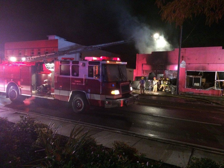 Firefighter injured battling Tampa furniture store fire